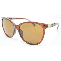 New Girl Evette C12 Crystal Dark Brown Frame With Light Gold Brown Lens
