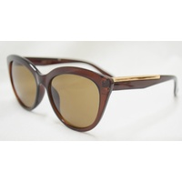 New Girl Gabby C13 Crystal Dark Brown Frame With Brown Lens