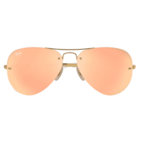 Ray-Ban Aviator RB3449 001/2Y-59 Gold / Copper Mirror