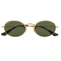Ray-Ban RB3547N 001-54 Oval Polished Gold / Green Classic G-15