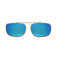 Stalkers Clip On Size 7 Dark Gunmetal Frame / Ice Blue Revo Lens