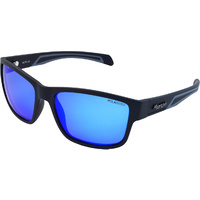 Mangrove Jacks Kuta C8 Matte Black / Blue White Revo Polarised Lenses