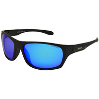 Mangrove Jacks Crusader C8 Matte Black / Blue White Revo Polarised Lenses