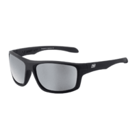 Dirty Dog Axle 53401 Satin Black / Silver Mirror Polarised Lenses