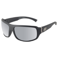 Dirty Dog Hammer 53446 Satin Black / Silver Mirror Polarised Lenses